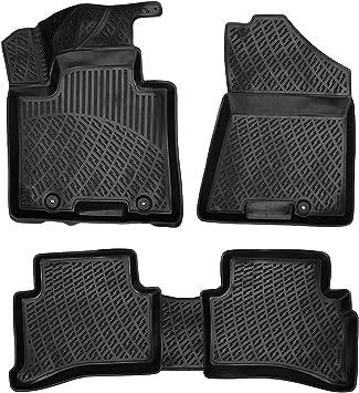 Custom Rubber Car Mats to fit Hyundai Santa Fe 7 Seater 2012-2018