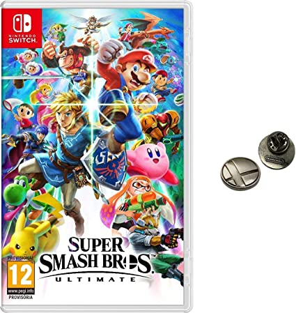 Super Smash Bros. Ultimate + Pin (Nintendo Switch): Amazon.es ...