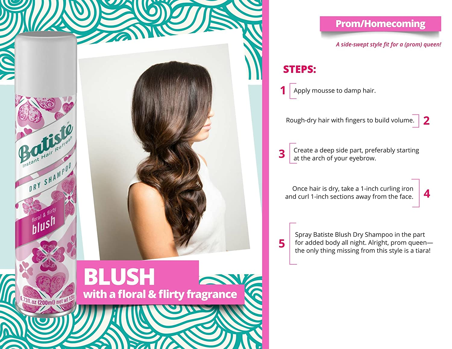 Batiste Dry Shampoo 200 Ml 673 Fl Oz Blush Beauty