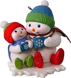 Hallmark Keepsake Christmas Ornament 2018 Year Dated, Snowmen Making Memories Cocoa Cuddles