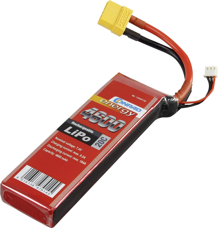 Batteria ricaricabile LiPo 7.4 V 4600 mAh 20 C Conrad energy Stick XT90
