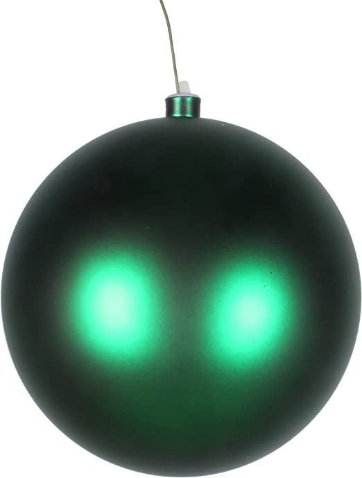 Queens of Christmas WL-ORN-BLKM-60-SLV-UV Matte Ball Ornament with Wire and UV Coating Silver 60mm