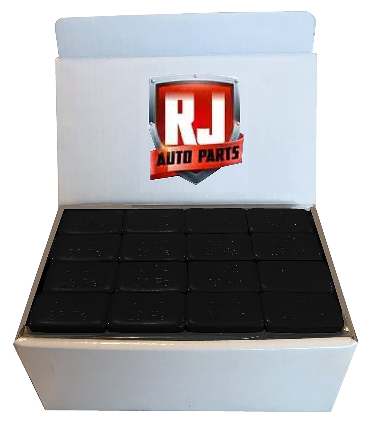1 Box Wheel Weights, Black 1 oz., Stick-on Adhesive Tape, Lead Free (9 lbs) 144 pieces RJ Auto Parts