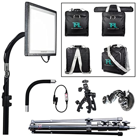 The Makeup Light   Key Light PRO Package, Onyx/black With Stand, Adjustable