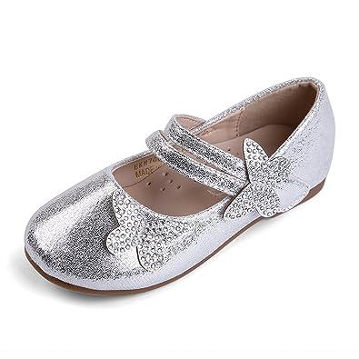 f8e6df0d79db4 EIGHT KM Toddler Girls Ballet Flats Mary Janes Dress Shoes