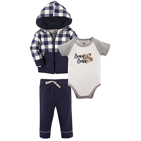 Amazon Com Yoga Sprout Baby Infant 3 Piece Jacket Top And Pant Set