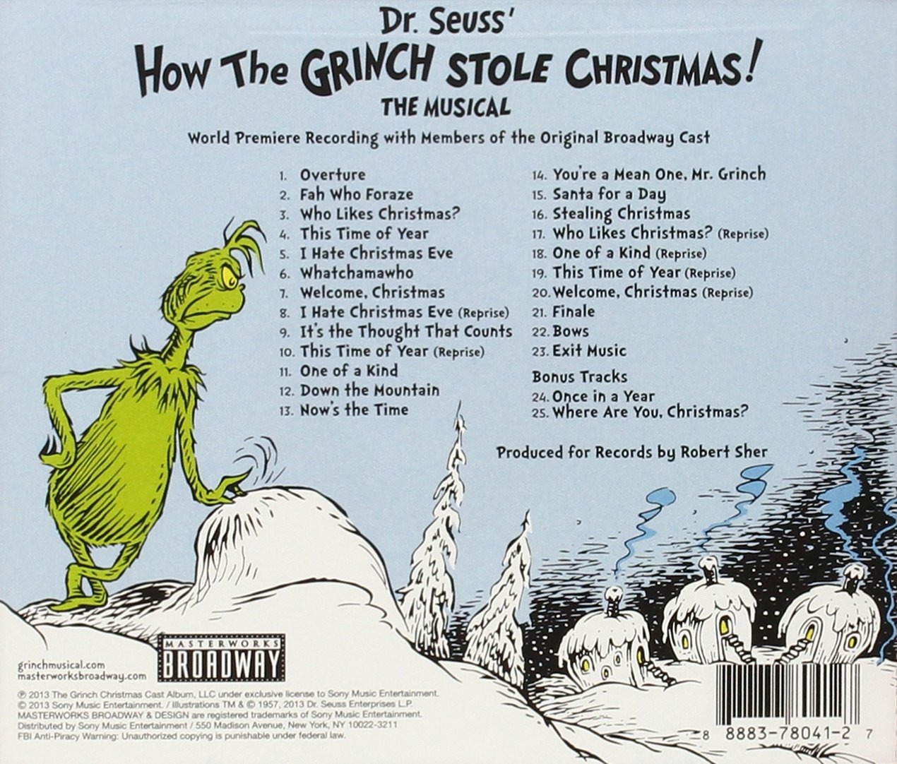 world premiere recording dr seuss u0027 how the grinch stole chri