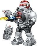 Robot Radio Commandé - lance des disques, Danse, Parle - Un robot RC super amusant (Argent)