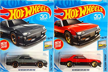 Amazon com: 2018 Hot Wheels Factory Fresh 10/10 - '82 Nissan Skyline