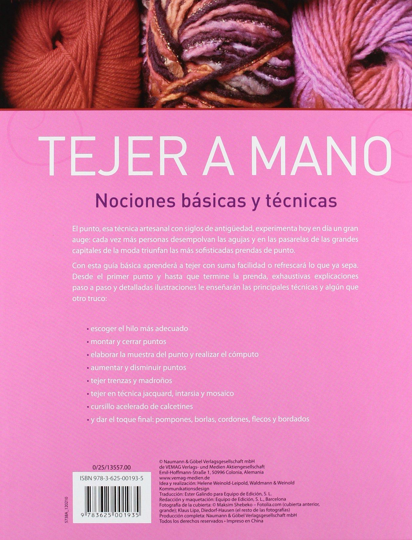 Tejer A Mano: Nociones Basicas Y Tecnicas: Varios: 9783625001935: Amazon.com: Books