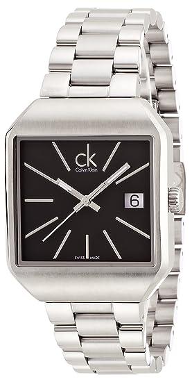 Calvin Klein Reloj Analógico para Mujer de Cuarzo con Correa en Acero Inoxidable K3L33161: Amazon.es: Relojes