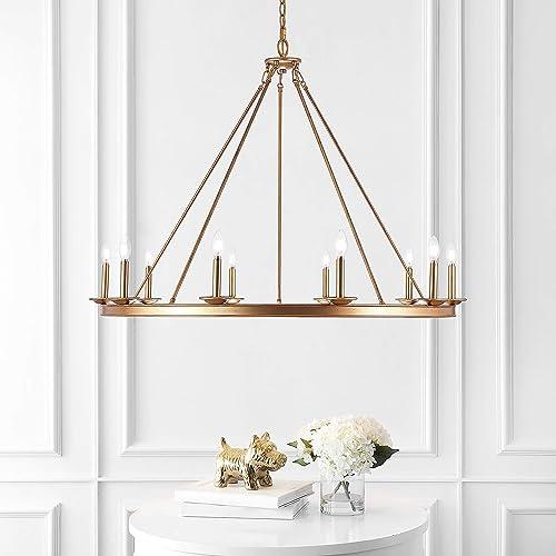 Safavieh CHA4017B Telta Gold 10-Light LED Bulbs Included Chandelier