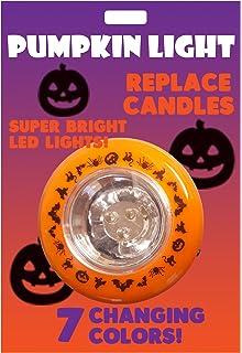 light up jack o lantern halloween multi colored changing pumpkin light flashing led - Halloween Pumpkin Lights
