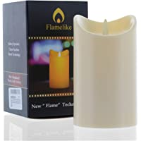 Flamelike candles - Flameless Candle with Timer. Non Wax. Unscented LED Moving Wick Flame. Battery Operated. Realistic…