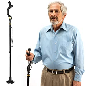 Walking Cane for Men and Walking Canes for Women Special Balancing - Cane Walking Stick Have 10 Adjustable Heights - self Standing Folding Cane, Portable Collapsible Cane, Comfortable and Lightweight