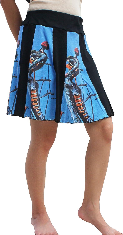 RaanPahMuang Salvador Dali The Burning Giraffe Paneled Short Skirt