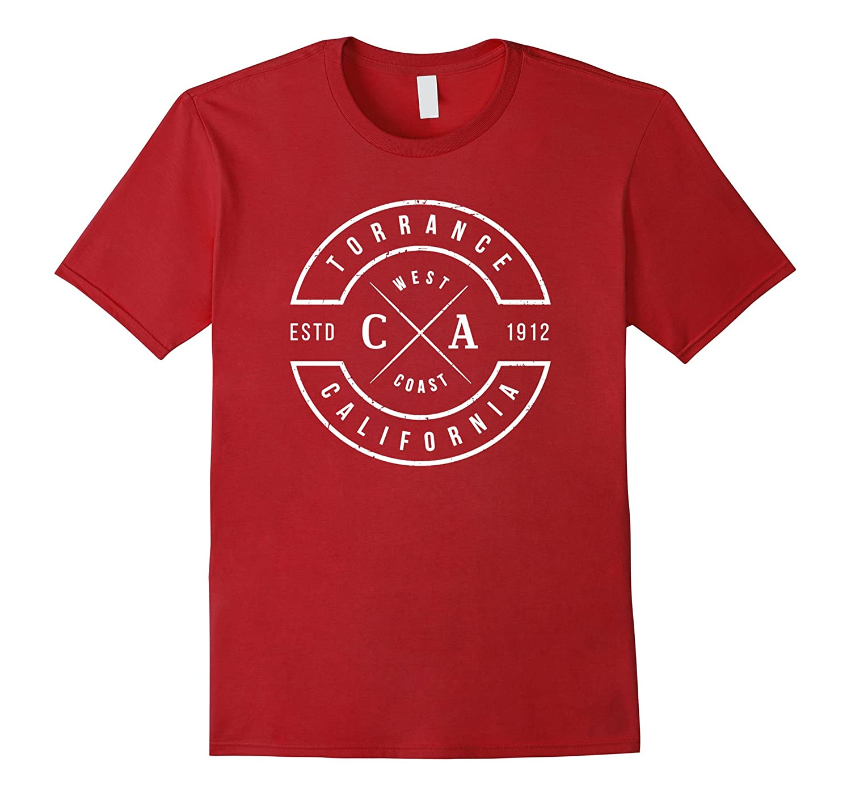 Torrance California T Shirt Vintage Emblem Souvenirs-Loveshirt
