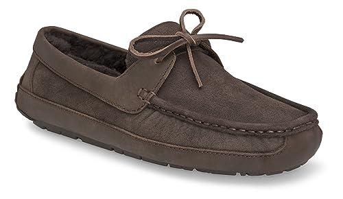 UGG Australia UGG Australia Byron Cappuccino-Leather Slipper para hombre 13 M US