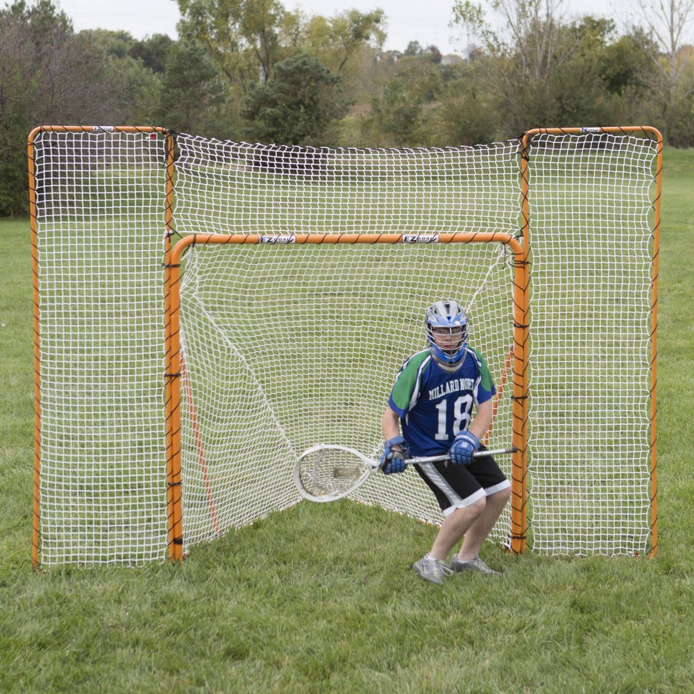 amazon com ezgoal monster lacrosse backstop rebounder 11 u0027 x 8
