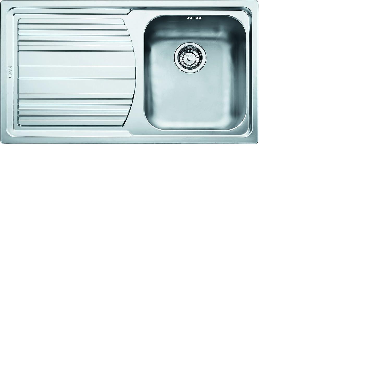 Franke 101.0085.773 Logica Line LLX 611 Lavello Montato su Piano Rettangolare Acciaio Inossidabile