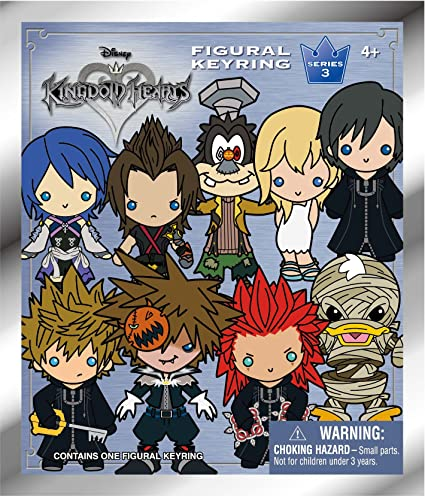 Kingdom Hearts Series 3 Mystery Pack 3D Figural Llavero (1 ...