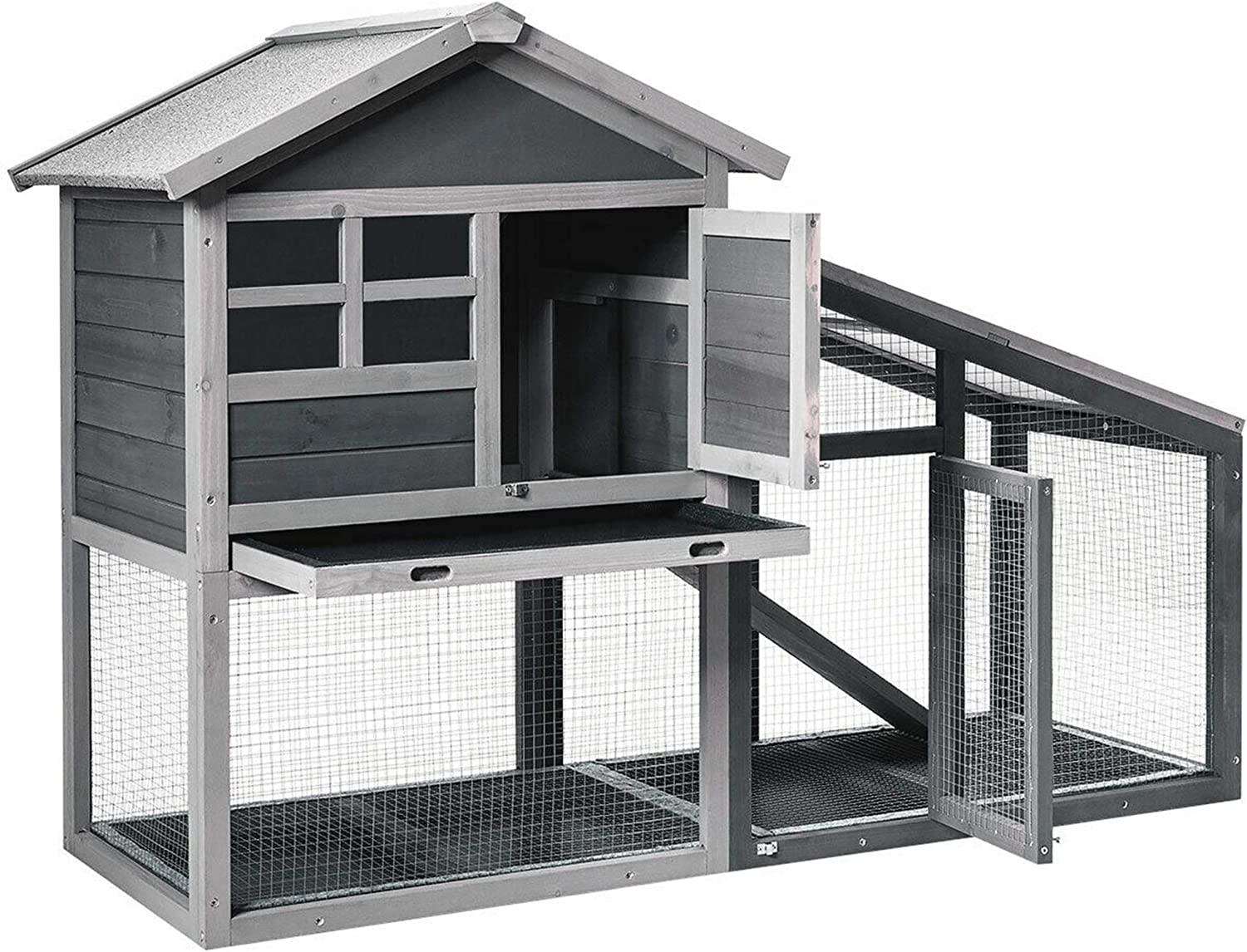 LS Line Elegant Beautiful Easy to Use Favorable Comfortable Extra Space Wooden Rabbit Hutch Large Chicken Pet Home House Weatherproof Furniture fot Indoor Outdoor Use (1)