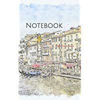 Notebook: Venice Italy architecture channel buildings Italian gondola