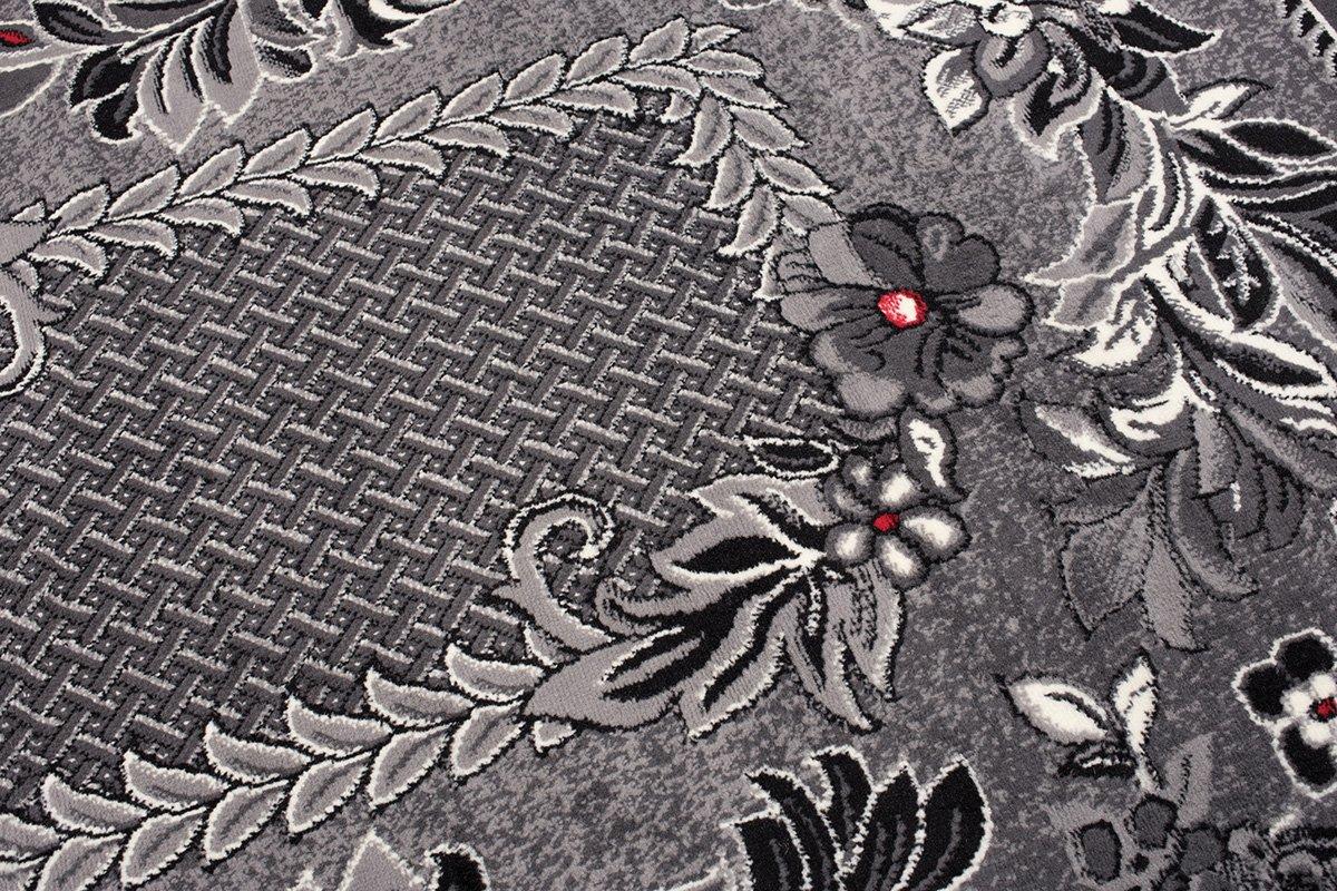 Tapiso Dream Teppich Kurzflor Grau Rot Creme Schwarz mit mit mit Floral Blumen Blätter Modern Muster Bordüre Designer Wohnzimmer ÖKOTEX 250 x 300 cm 03ab9b
