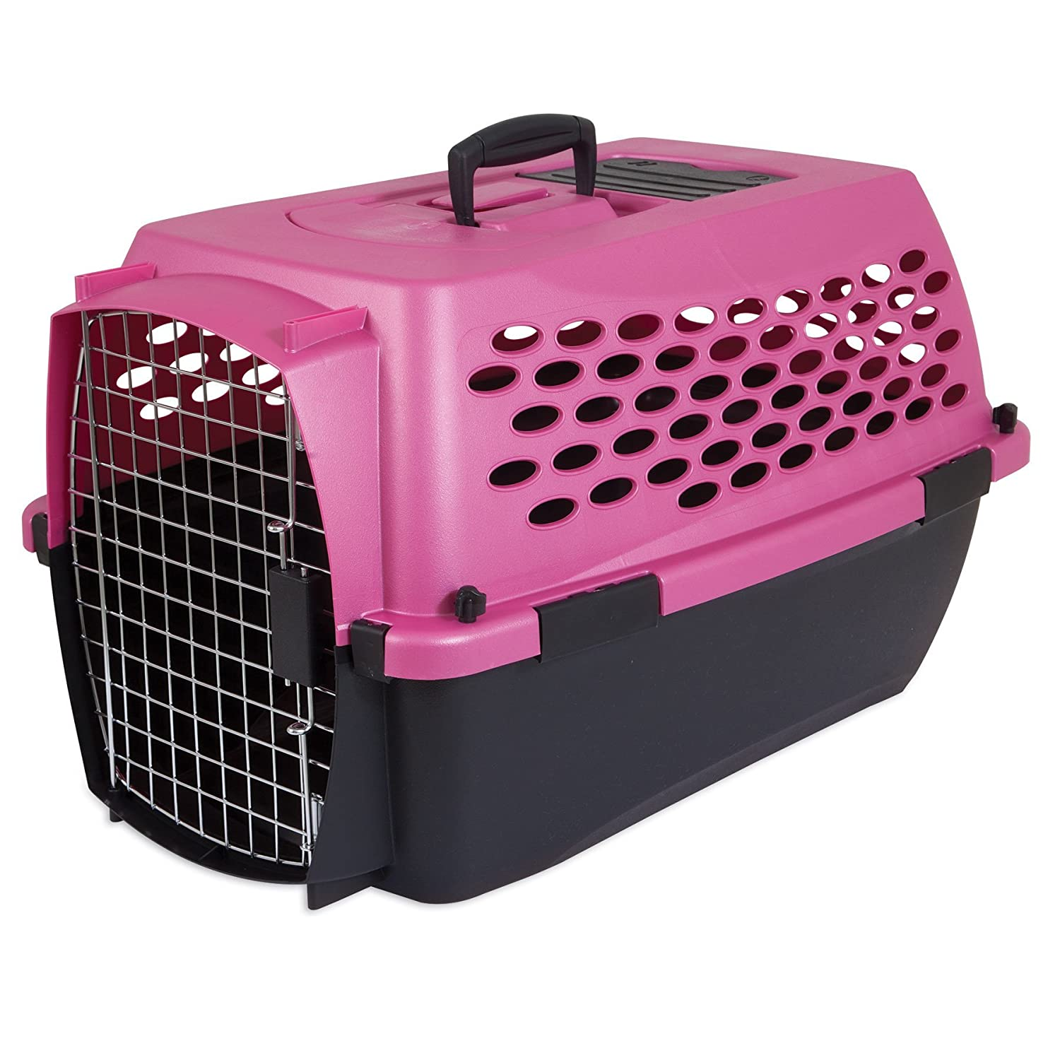 amazoncom  petmate fashion vari kennel lbs dark pink  - amazoncom  petmate fashion vari kennel lbs dark pinkblack  dogkennel  pet supplies