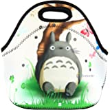 Newplenty Lunch Bag Waterproof Picnic Tote Insulated Cooler Zipper Box, Totoro