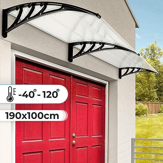 Jago - Marquesina para puertas aprox. 100 x 190 cm: Amazon.es: Jardín