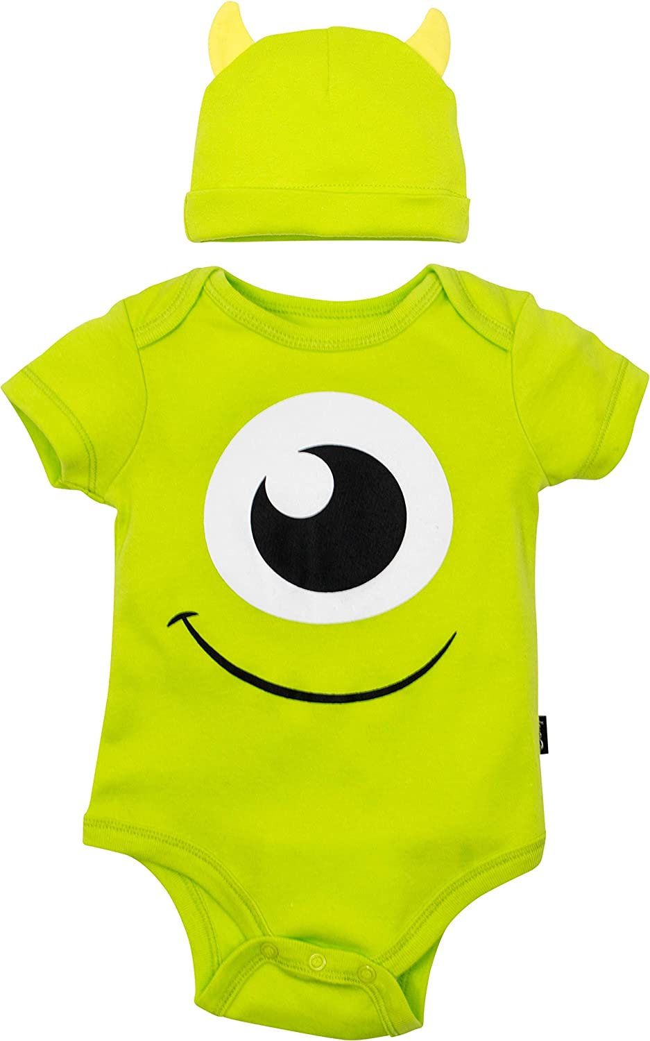 Disney Pixar Monsters Inc. Mike Wazowski Baby Boys' Costume Bodysuit & Hat Green