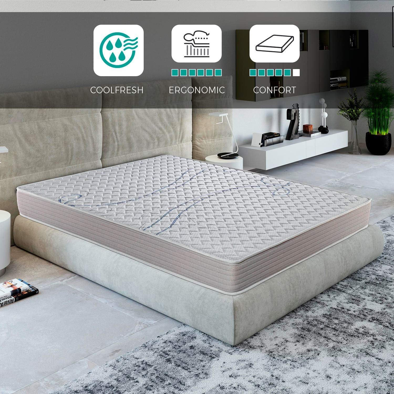 ROYAL SLEEP Colchón viscoelástico 135x190 de máxima Calidad, Confort, firmeza y adaptabilidad Alta, Altura 18cm - Colchones Xfresh Plus