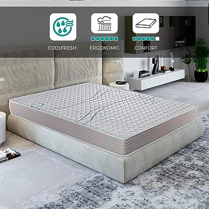 ROYAL SLEEP Colchón viscoelástico 140x190 de máxima Calidad, Confort, firmeza y adaptabilidad Alta, Altura 18cm - Colchones Xfresh Plus