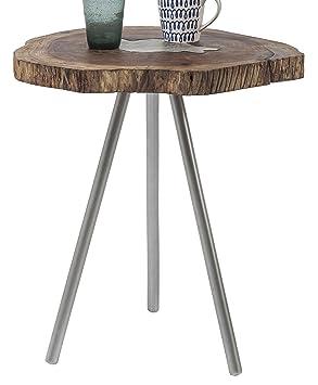 Kare Design Table D Appoint Tronc D Arbe Et Aluminium