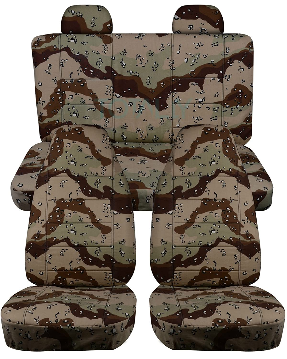 Amazon.com: 2002 2007 Jeep Liberty Camo Seat Covers With Molded/Adjustable  Front U0026 Rear Headrests: Red Digital Camouflage   Full Set (19 Prints) 40/60  Split ...