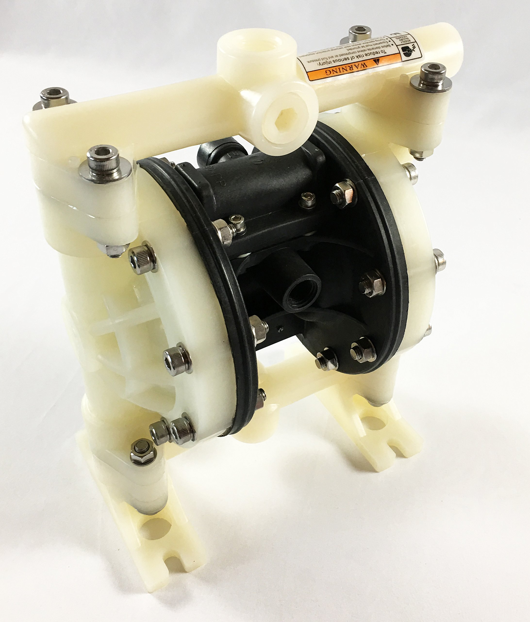 Double Diaphragm Air Pump PII.50 Chemical Industrial Polypropylene 1/2'' or 3/4'' NPT Inlet / Outlet by Plating International (Image #1)