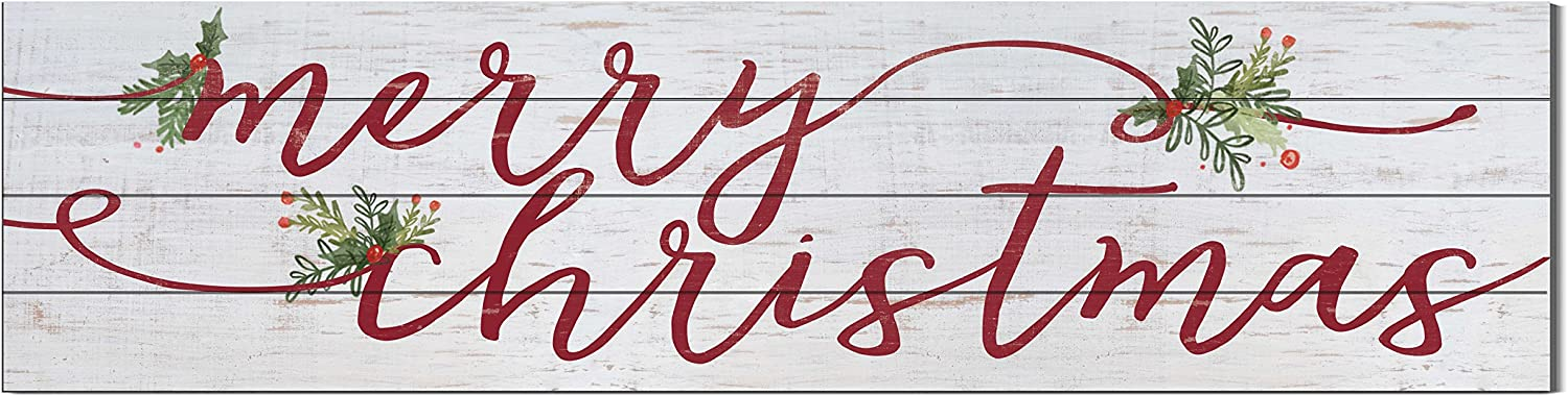 "Kindred Hearts 40""x10"" Merry Christmas Shiplap Wall Sign"