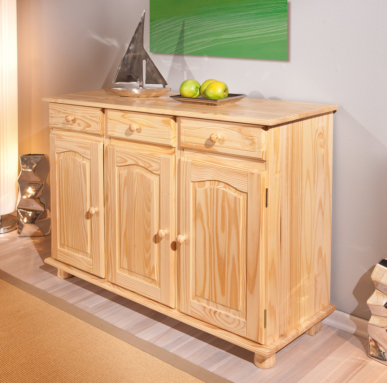 Links, Credenza in pino, 43 x 130 x 87 cm: Amazon.it: Casa e cucina