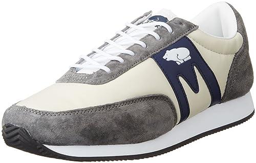 Karhu - Zapatillas de Piel para hombre Gris Grey Dark Navy 43,5: Amazon.es: Zapatos y complementos