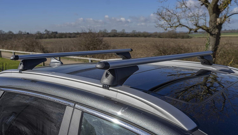 Pair of for Cars with Flush Rails-1.2m Summit SUM-004 Locking Roof Bars in Aluminium