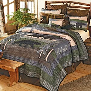 Black Bear Hills Quilt Set - Queen