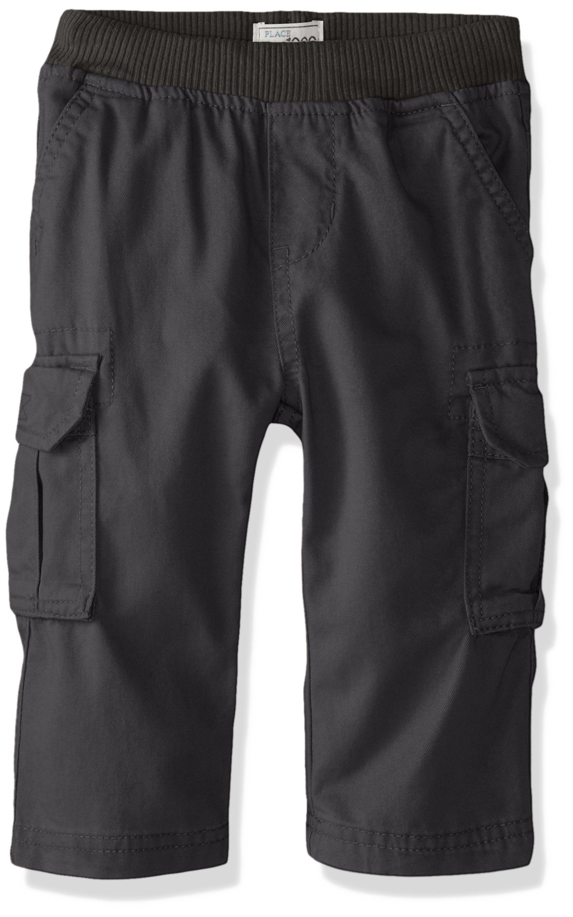The Children's Place Baby Toddler Boys' Pull on Cargo Pants, Motoroil 8355, 4T