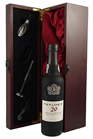 Taylors 20 Year Old Tawny Port 375CL Presented In A Silk Lined Wooden Box With
