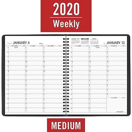 Amazon.com: AT-A-GLANCE - Agenda semanal para citas 2020 ...