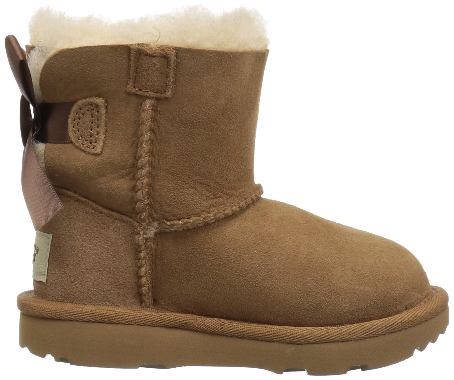 UGG Girls T Mini Bailey Bow II Pull-on Boot, Chestnut, 12 M US Little Kid by UGG (Image #7)