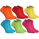 Rainbow Socks 6,9 o 12 paia di calzini corti in 12 colori di moda prodotti in UE, massima qualita del cottone con certificato OEKO - TEX, tanti numeri 36, 37, 38, 39, 40, 41, 42, 43, 44, 45, 46 by