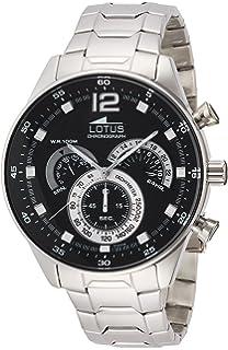 Lotus Reloj Cronógrafo para Hombre de Cuarzo con Correa en ...