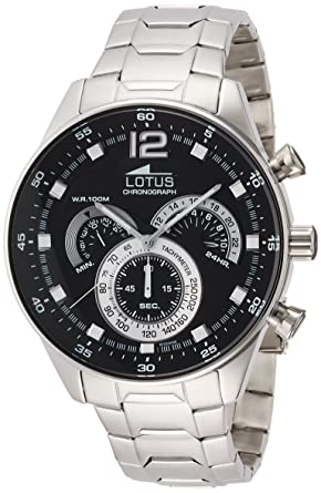 Men's Watch Lotus Stainless Steel Band Chronograph and tachymeter 10120/4