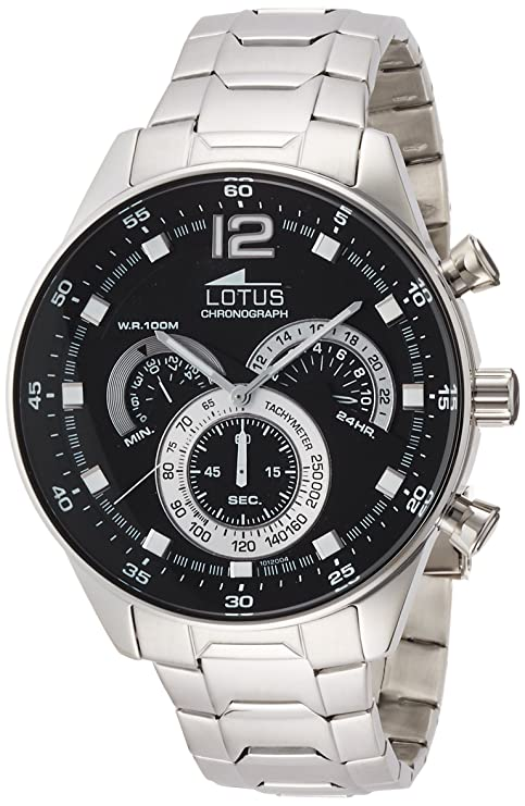 Amazon.com: Mens Watch Lotus Stainless Steel Band Chronograph and tachymeter 10120/4: Watches